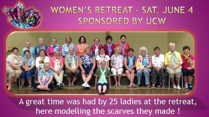 Women's Retreat June 4 2016 Participants Photo